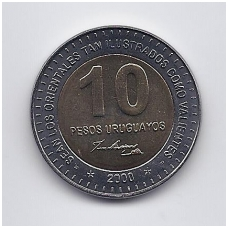 URUGVAJUS 10 PESOS 2000 KM # 121 UNC