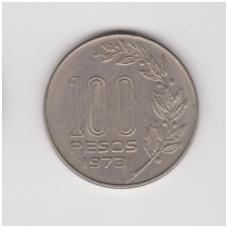 URUGVAJUS 100 PESOS 1973 KM # 59 VF