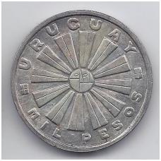 URUGVAJUS 1000 PESOS 1969 KM # 55 AU FAO