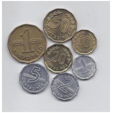 URUGVAJUS 1976 - 1981 m. 7 monetų komplektas