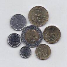 URUGVAJUS 1994 - 2007 m. 7 MONETŲ RINKINYS