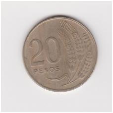 URUGVAJUS 20 PESOS 1970 KM # 56 VF