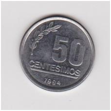 URUGVAJUS 50 CENTESIMOS 1994 KM # 106 XF
