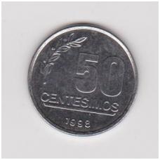 URUGVAJUS 50 CENTESIMOS 1998 KM # 106 XF