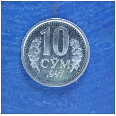 UZBEKISTANAS 10 SOMŲ 1997 KM # 10