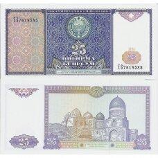 UZBEKISTANAS 25 SOM 1994 P # 77a AU