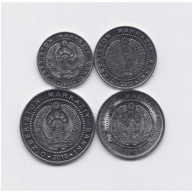 UZBEKISTANAS 2018 m. 4 monetų pilnas komplektas 2
