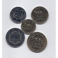 VAKARŲ AFRIKA 2011 - 2014 m. 5 monetų rinkinukas