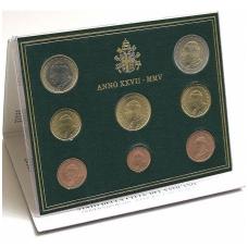VATIKANAS 2005 m. monetų rinkinys