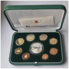 VATIKANAS 2018 m. euro monetų oficialus proof rinkinys su 20 eurų progine moneta