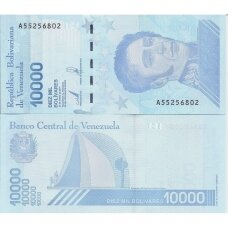 VENESUELA 10 000 BOLIVARES 2019 P # new UNC