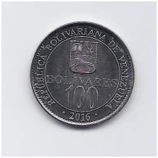 VENESUELA 100 BOLIVARES 2016 KM # 106 UNC