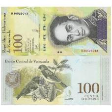 VENESUELA 100 000 BOLIVARES 2017 P # NEW UNC