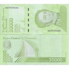 VENESUELA 20 000 BOLIVARES 2019 P # new UNC