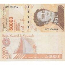 VENESUELA 50 000 BOLIVARES 2019 P # new UNC