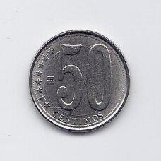VENESUELA 50 CENTAVOS 2009 Y # 92 UNC