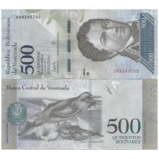 VENESUELA 500 BOLIVARES 2017 P # NEW UNC