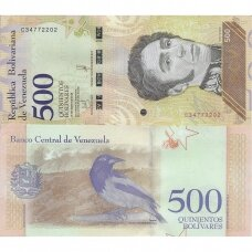 VENESUELA 500 BOLIVARES 2018 P # 108 UNC
