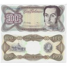 VENEZUELA 100 BOLIVARES 1998 P # 66f AU