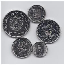 VENESUELA 1989 - 1990 m. 5 monetų komplektas