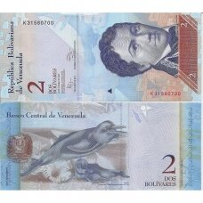 VENEZUELA 2 BOLIVARES 2012 P # 88d AU