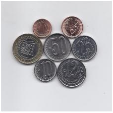 VENESUELA 2007 - 2012 m. 7 monetų rinkinukas