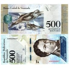 VENEZUELA 500 BOLIVARES 2016 P # new UNC
