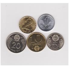 VENGRIJA 1990 m. retas laikinų monetų komplektas