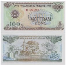 VIETNAMAS 100 DONG 1991 P # 105a UNC