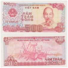 VIETNAMAS 500 DONG 1988 P # 101 UNC