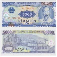 VIETNAMAS 5000 DONG 1991 P # 108 UNC