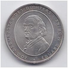 VOKIETIJA 10 EURO 2004 KM # 233 AU EDUARD MORIKE