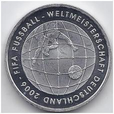 VOKIETIJA 10 EURO 2005 KM # 243 PROOF FIFA 2006