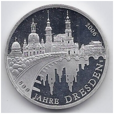 VOKIETIJA 10 EURO 2006 KM # 246 PROOF DRESDENAS