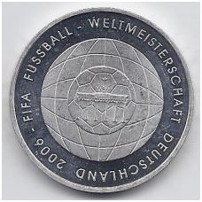 VOKIETIJA 10 EURO 2006 KM # 249 PROOF FIFA 2006