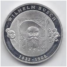 VOKIETIJA 10 EURO 2007 KM # 265 PROOF WILHELM BUSCH