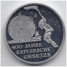 VOKIETIJA 10 EURO 2009 KM # 280 PROOF KEPLERIO DĖSNIAI