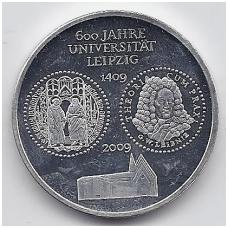 VOKIETIJA 10 EURO 2009 KM # 282 PROOF LEIPCIGO UNIVERSITETAS