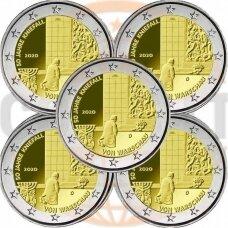VOKIETIJA 2 EURAI 2020 50 m. W. BRANDTO VIZITUI VARŠUVOJE 5 MONETOS (A,D,F,J,G)