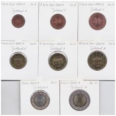 VOKIETIJA 2002 m. pilnas euro rinkinys ( A )