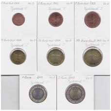 VOKIETIJA 2002 m. pilnas euro rinkinys  ( J )