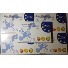 VOKIETIJA 5 X 2005 m. EURO MONETŲ PROOF RINKINYS ( A,D,F,G,J )