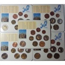 VOKIETIJA 5 X 2006 m. EURO MONETŲ RINKINYS SU PROGINE 2 EURŲ MONETA ( A,D,F,G,J )