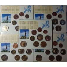 VOKIETIJA 5 X 2008 m. EURO MONETŲ RINKINYS SU PROGINE 2 EURŲ MONETA ( A,D,F,G,J )
