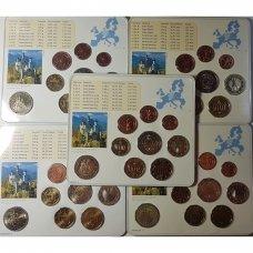 VOKIETIJA 5 X 2012 m. EURO MONETŲ RINKINYS SU PROGINE 2 EURŲ MONETA ( A,D,F,G,J )
