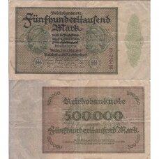 VOKIETIJA 500 000 MARK 1923 P # 88 F