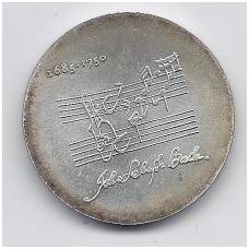 VOKIETIJA ( DEMOKRATINĖ ) 20 MARK 1975 KM # 59 AU J. S. BACHAS