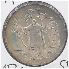 VOKIETIJA ( DEMOKRATINĖ ) 20 MARK 1979 KM # 74 AU LESSING