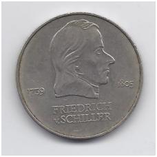 VOKIETIJA ( DEMOKRATINĖ ) 20 MARK 1972 KM # 40 VF F. ŠILERIS