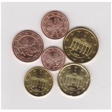VOKIETIJA EURO CENTŲ KOMPLEKTAS ( 6 monetos )
